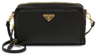 Prada Nylon & Saffiano Leather Mini Crossbody Bag