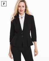 White House Black Market Petite Seasonless Peplum Jacket