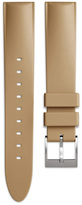 Uniform Wares Men's tapered nitrile rubber watch strap in sand with brushed steel buckle