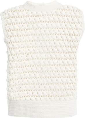 Paco Rabanne Crochet-knit Cotton Top