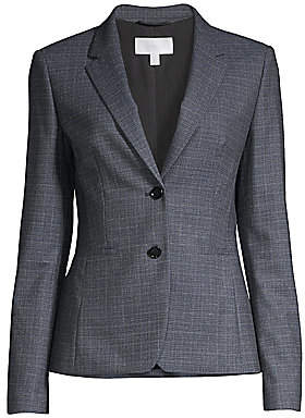 BOSS Women's Julea Heathered Super Stretch Wool Suiting Jacket