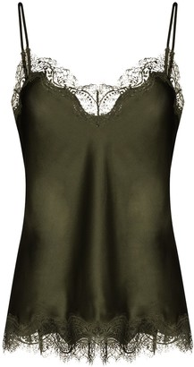 Sainted Sisters Lace Trim Silk Camisole