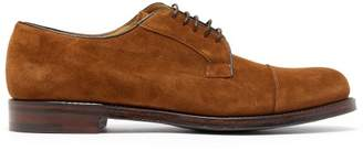 Cheaney Epson Iii Suede Derby Shoes - Mens - Dark Brown