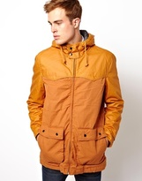 Selected Coated Hooded Jacket - Pumpkin spice