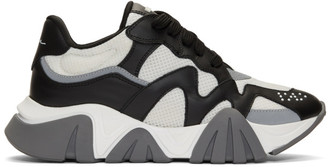 Versace Black and White Squalo Sneakers