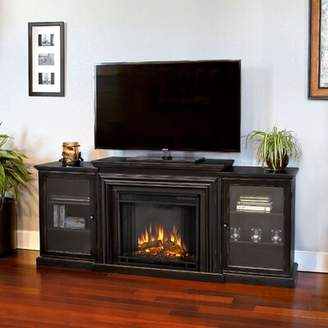 Frederick Real Flame TV Stand for TVs up to 78 inches with Fireplace Included Real Flame Color: Distressed Blackwash