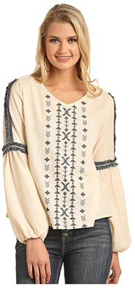Rock and Roll Cowgirl Billow Sleeve B4-3119 (Natural) Women's Clothing