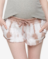A Pea in the Pod Tie-Dye Maternity Shorts