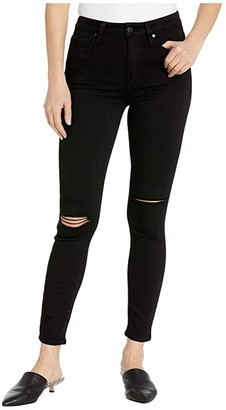 Paige Margot Ankle Jeans in Black Anchor Destructed (Black Anchor Destructed) Women's Jeans