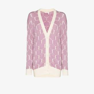 See by Chloe honeycomb button-down cardigan