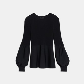 Theory Blouson Top in Ottoman Knit
