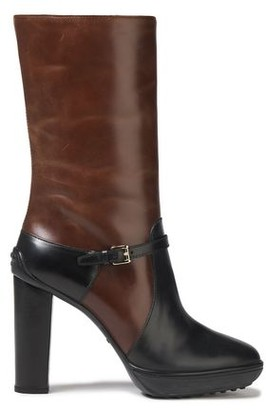 Tod's Two-tone Leather Platform Boots
