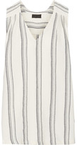 Hatch Lyndi Embroidered Cotton-canvas Top - Ivory