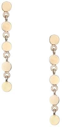 Chicco Zoe 14K Yellow Gold Disc Linear Drop Earrings