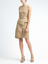 Banana Republic Linen-Blend Peplum Utility Dress