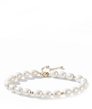 David Yurman Bijoux Spiritual Beads Bracelet with Pearls and 18K Gold