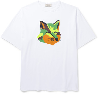 MAISON KITSUNÉ Printed Cotton-Jersey T-Shirt - Men - White