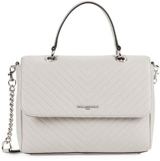 Karl Lagerfeld Paris Charloette Chevron Quilted Leather Crossbody Bag