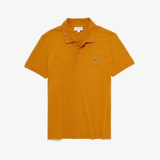 Lacoste Men's Slim Fit Multicolored Signature Stretch Pique Polo
