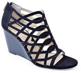 Adrienne Vittadini Andre Suede Wedge Sandals