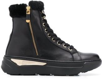 Baldinini chunky heel trimmed boots