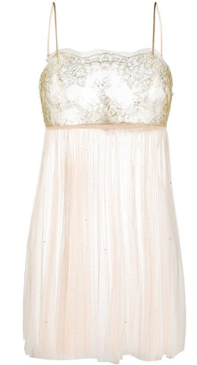 Gilda & Pearl Lace Embroidered Slip Dress