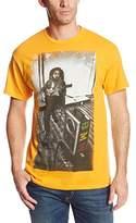 Zion Rootswear Men's Bob Marley Speaker T-Shirt (Gold) T-Shirt