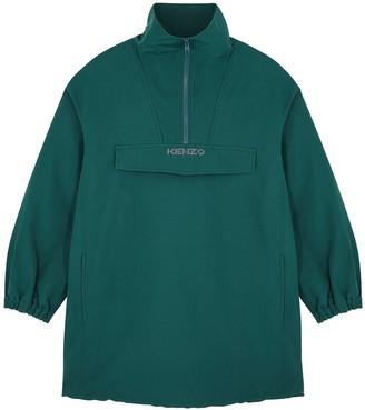 Kenzo Teal half-zip twill jacket