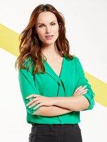 M&Co Pleat front blouse