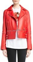 Christopher Kane Women's Zip Off Leather Biker Jacket