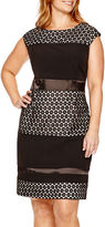 Studio 1 Sleeveless Lace Sheath Dress - Plus