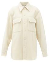 Raey Oversized Chest-pocket Pilled Wool-blend Shacket - Womens - Ivory