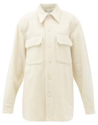 Raey Oversized Chest-pocket Pilled Wool-blend Shacket - Ivory