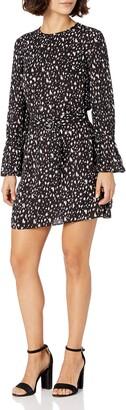 Ellen Tracy Women's Petite Crew Neck Dress W/Dring Belt