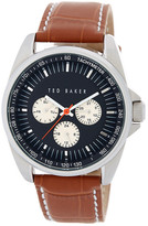 Ted Baker Men&s Tachometer Leather Strap Watch