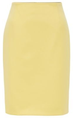 HUGO BOSS Pencil skirt in Portuguese double-faced fabric with stretch