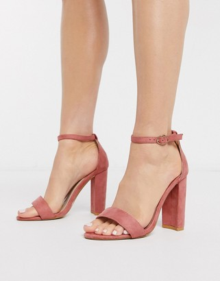 Glamorous barely there heels in pink