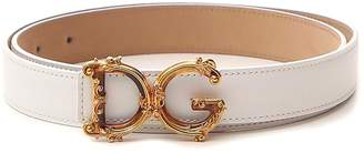 Dolce & Gabbana Baroque Logo Buckle Belt