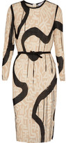 Max Mara Bina Printed Plissé-georgette Dress - Cream