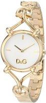 Dolce & Gabbana Women's DW0682 Flock Gold Case Silver Dial Spaghetti Bracelet Watch