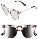 BP Women's 56Mm Funky Cat Eye Sunglasses - Black/ Gold