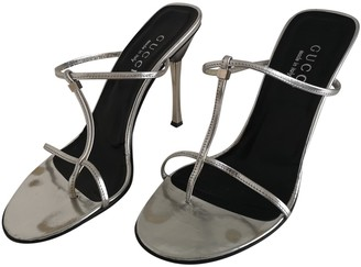 Gucci Silver Patent leather Sandals