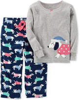 Carter's 2-Pc. Dog-Print Pajama Set, Toddler Girls (2T-5T)