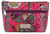 Sakroots Women's Adrienne On The Go Small Cosmetic - Fuschia Spirit Desert Cosmetic Bags