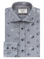 Thomas Pink Ferry Dot Texture Classic Fit Button Cuff Shirt