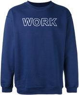Andrea Crews 'work' print sweatshirt