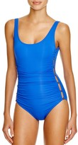 Carmen Marc Valvo Daiquiri Ruched One Piece Swimsuit