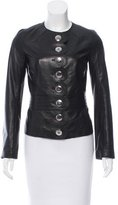 Tory Burch Scallop Trimmed Leather Jacket