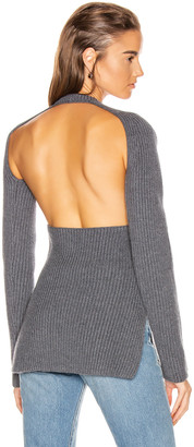 Proenza Schouler Ribbed Backless Top in Medium Grey Melange | FWRD