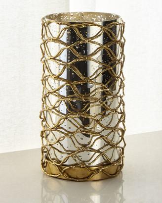 John-Richard Collection John Richard Collection Woven Brass Candleholder I